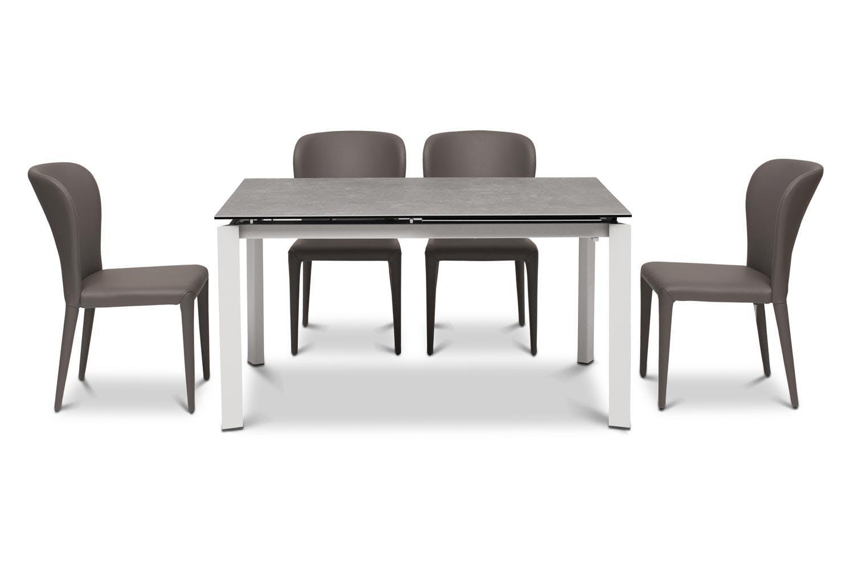 Callisto Dining Table Dark With 4 Aletta Chairs Dark Grey Ireland