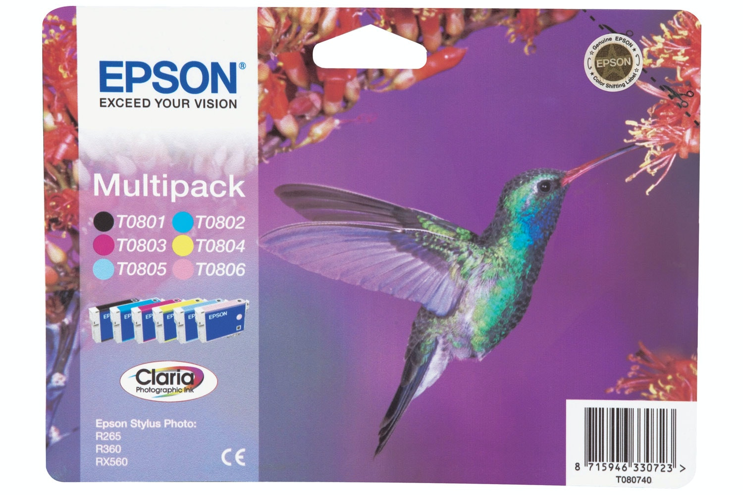Epson Hummingbird Ink 6 Colour Multipack