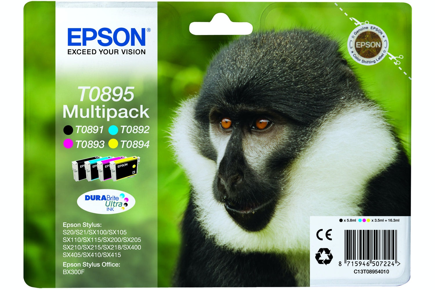 Epson Monkey Ink 4 Colour Multipack