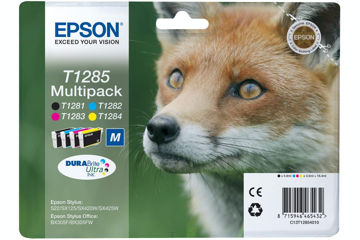 Epson Fox Ink 4 Colour Multipack
