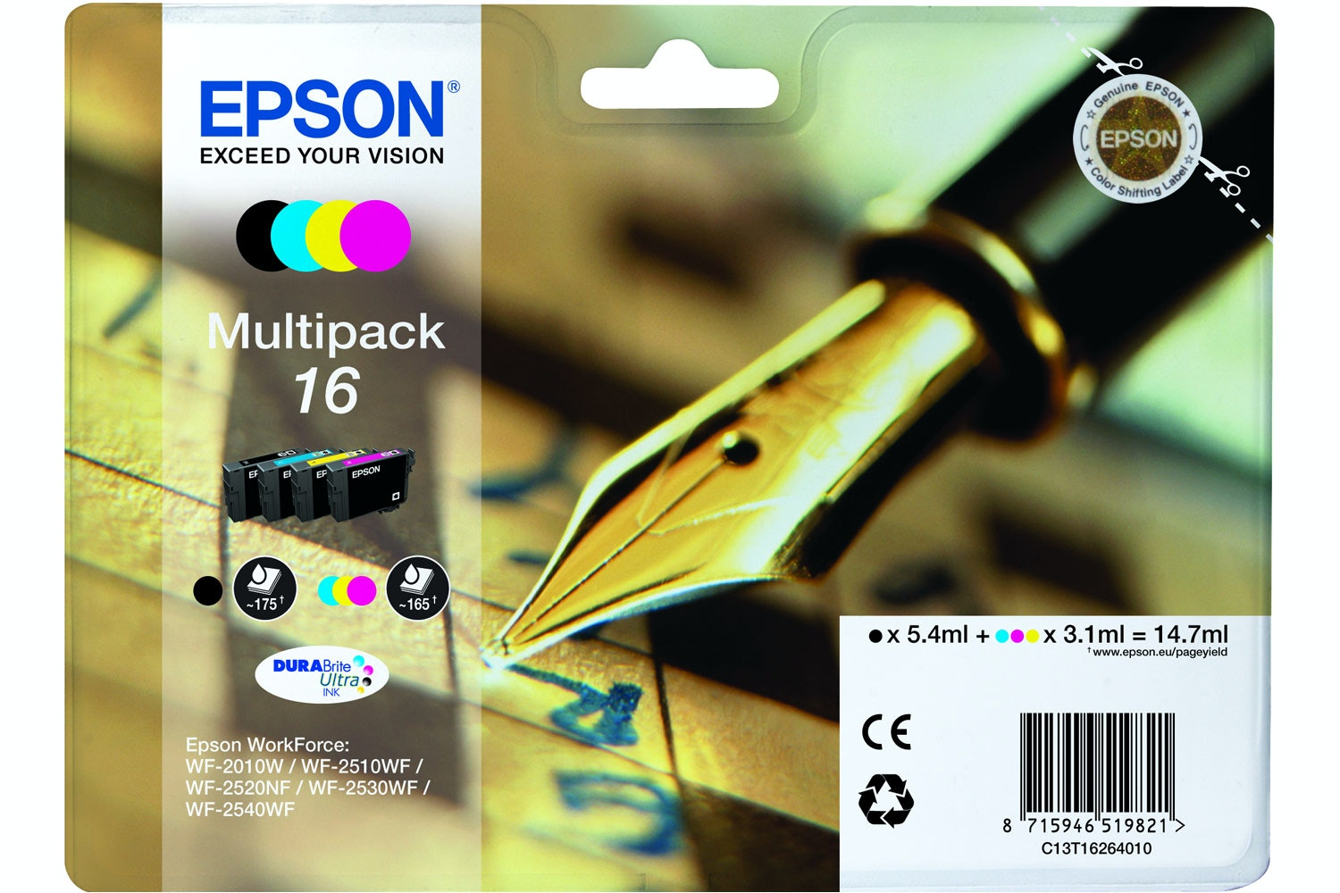 Epson Pen and Crossword Ink 4 Colour Multipack