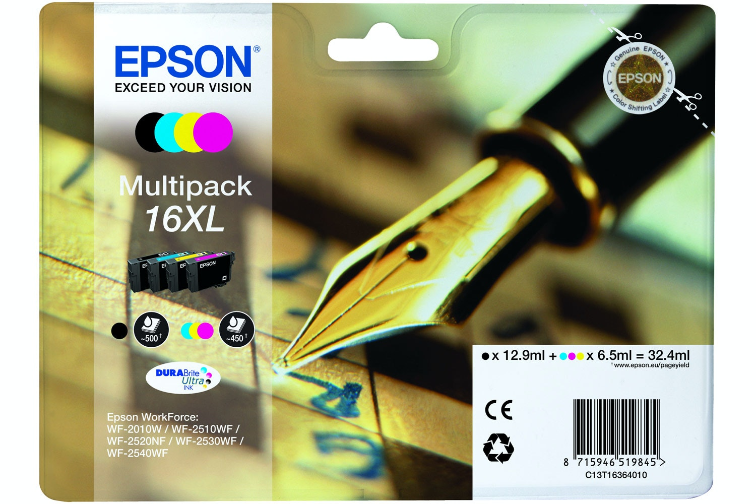 Epson XL Pen and Crossword 4 Colour Multipack Ink