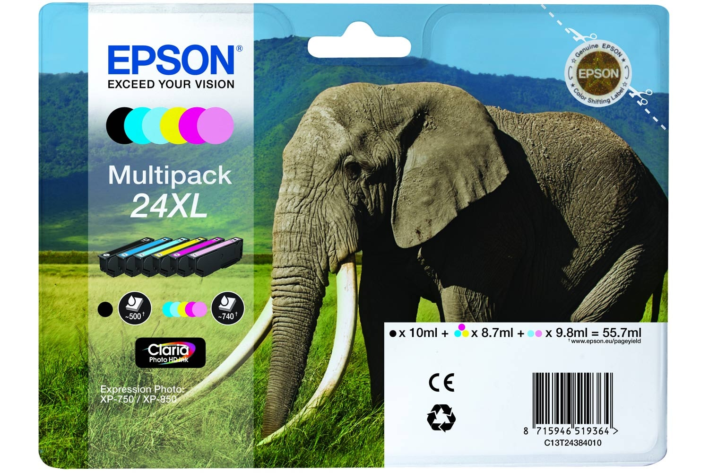 Epson XL Elephant Ink 6 Colour Multipack