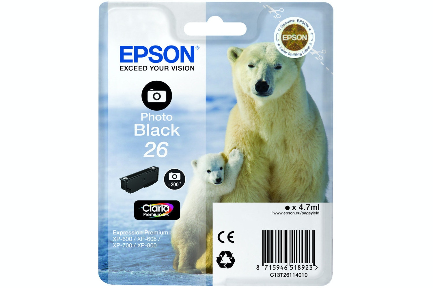 Epson Polar bear Ink Photo Black