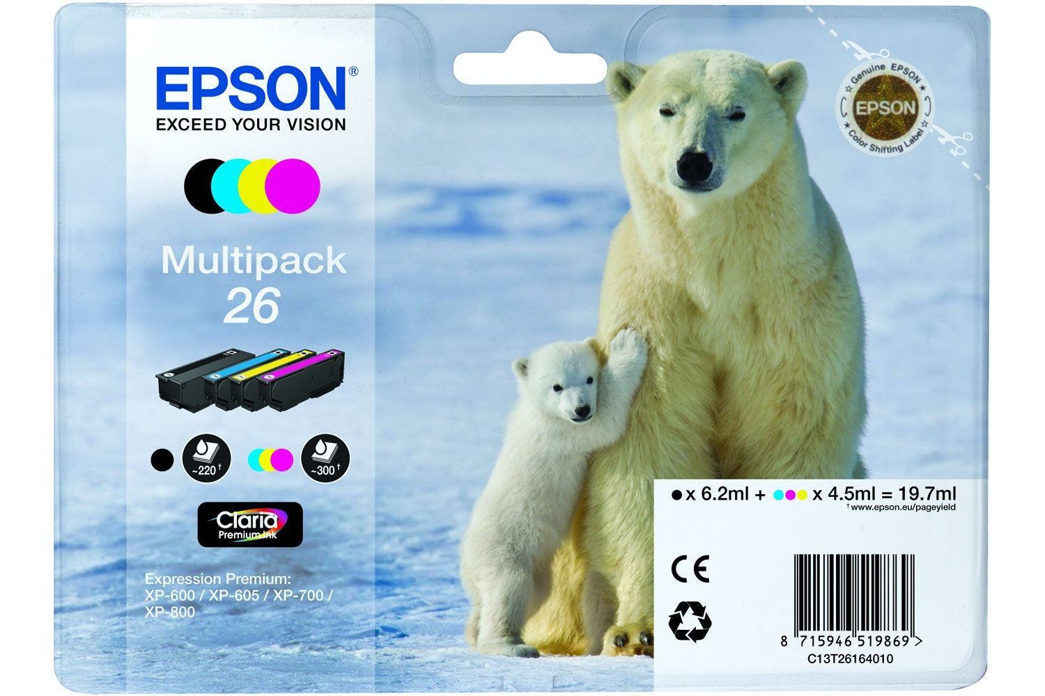 Epson Polar bear Ink 4 Colour Multipack