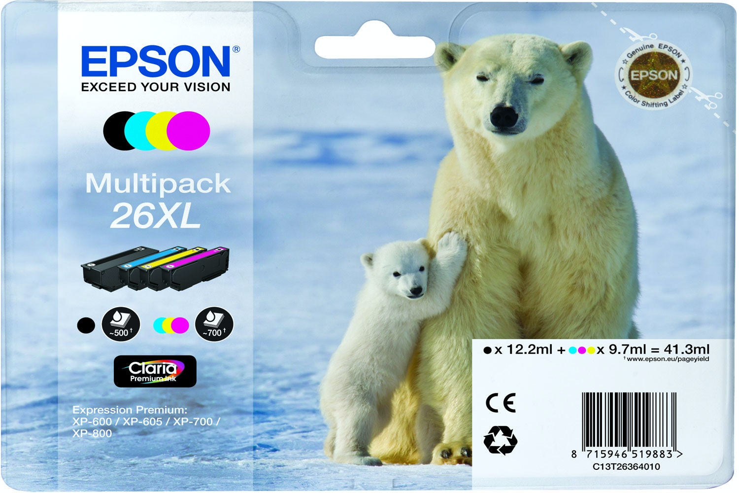 Epson XL Polar bear Ink 4 Colour Multipack