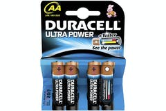 Duracell Ultra Power Alkaline AA Battery | 4 Pack