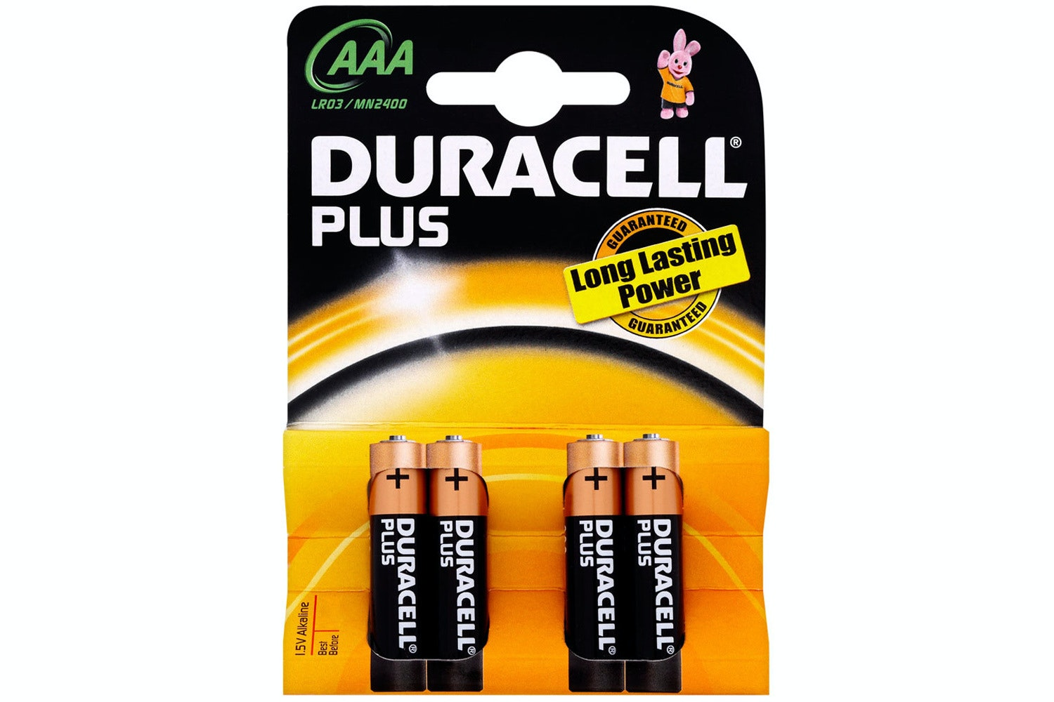 Duracell Plus AAA Batteries | 4 Pack