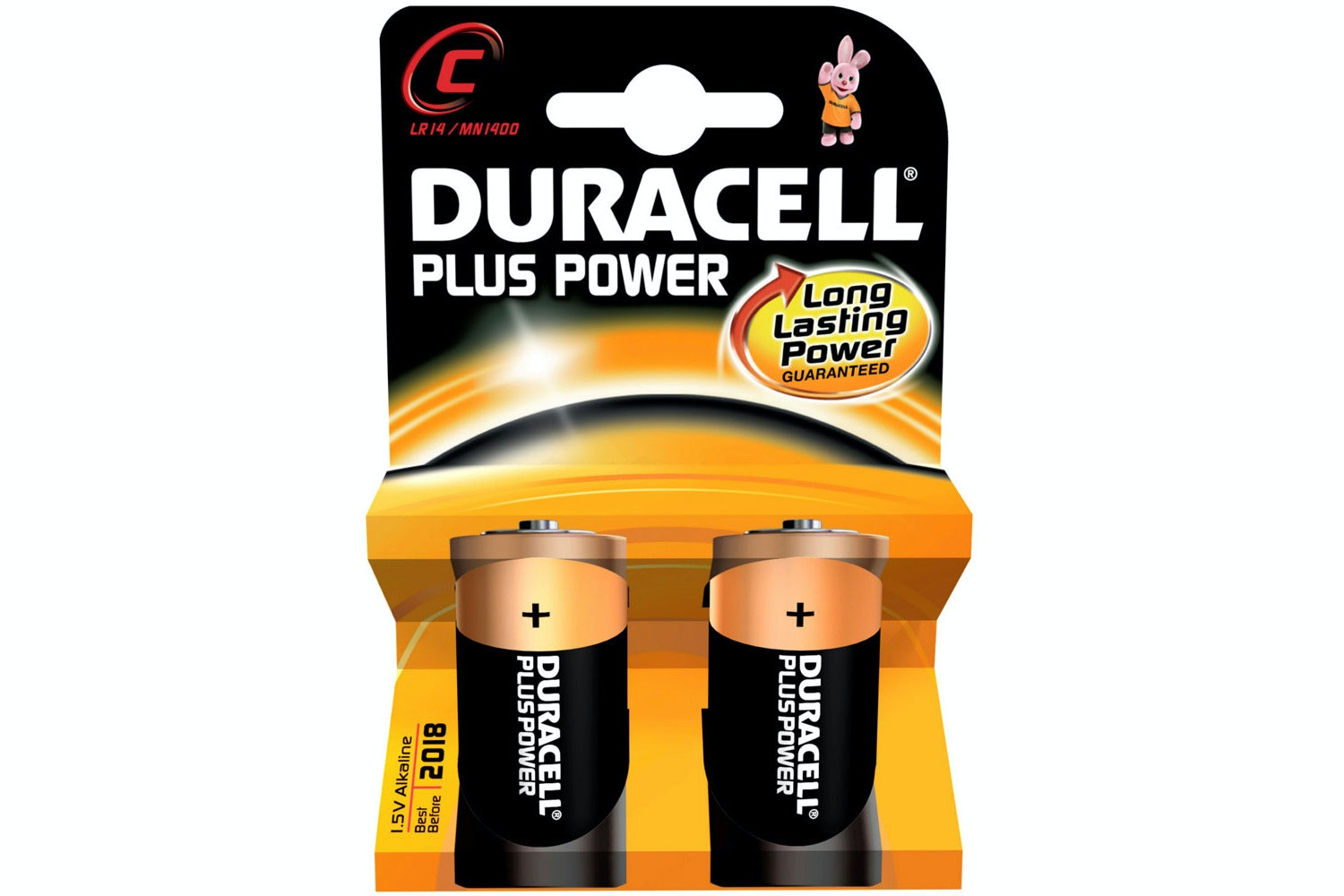 Duracell Plus C Batteries | 2 Pack