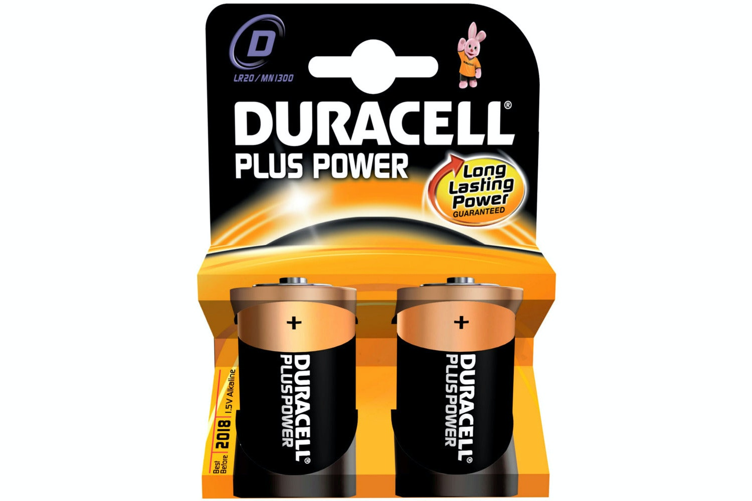 Duracell Plus D Batteries | 2 Pack