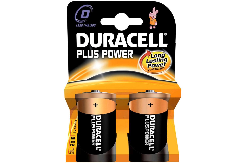 Duracell Plus D Batteries | 2 Pack