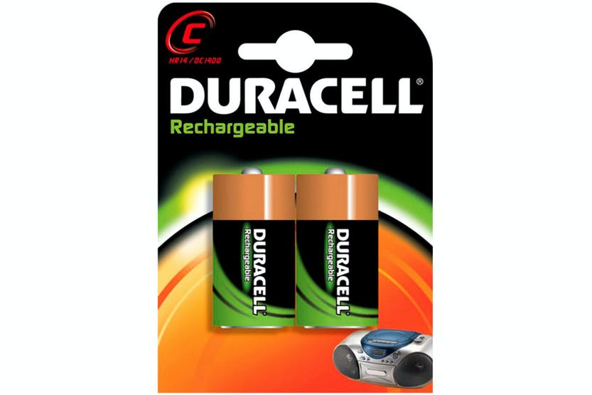 Duracell Rechargeable C Batteries | 2 Pack