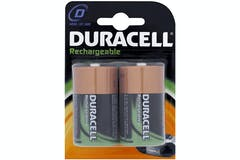 Duracell Rechargeable D Batteries | 2 Pack
