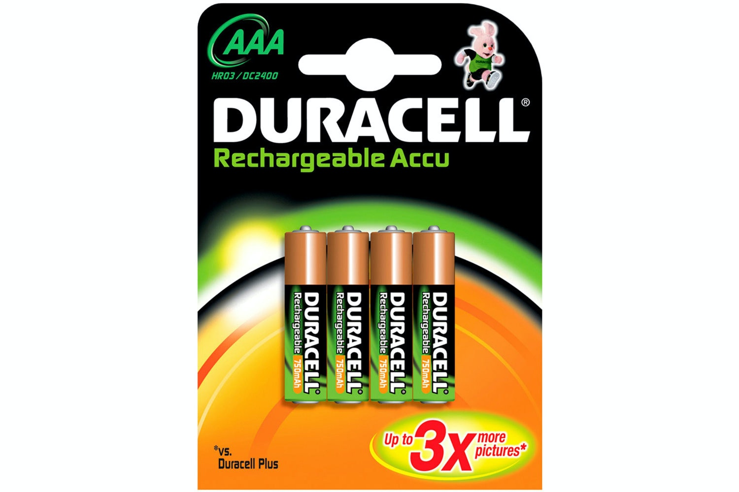 Duracell Rechargeable AAA Batteries | 4 Pack