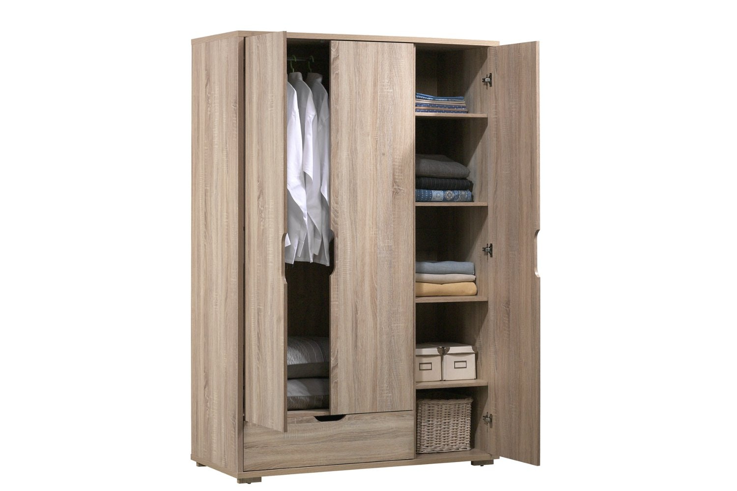 Polo Triple Door Wardrobe With Drawer Ireland