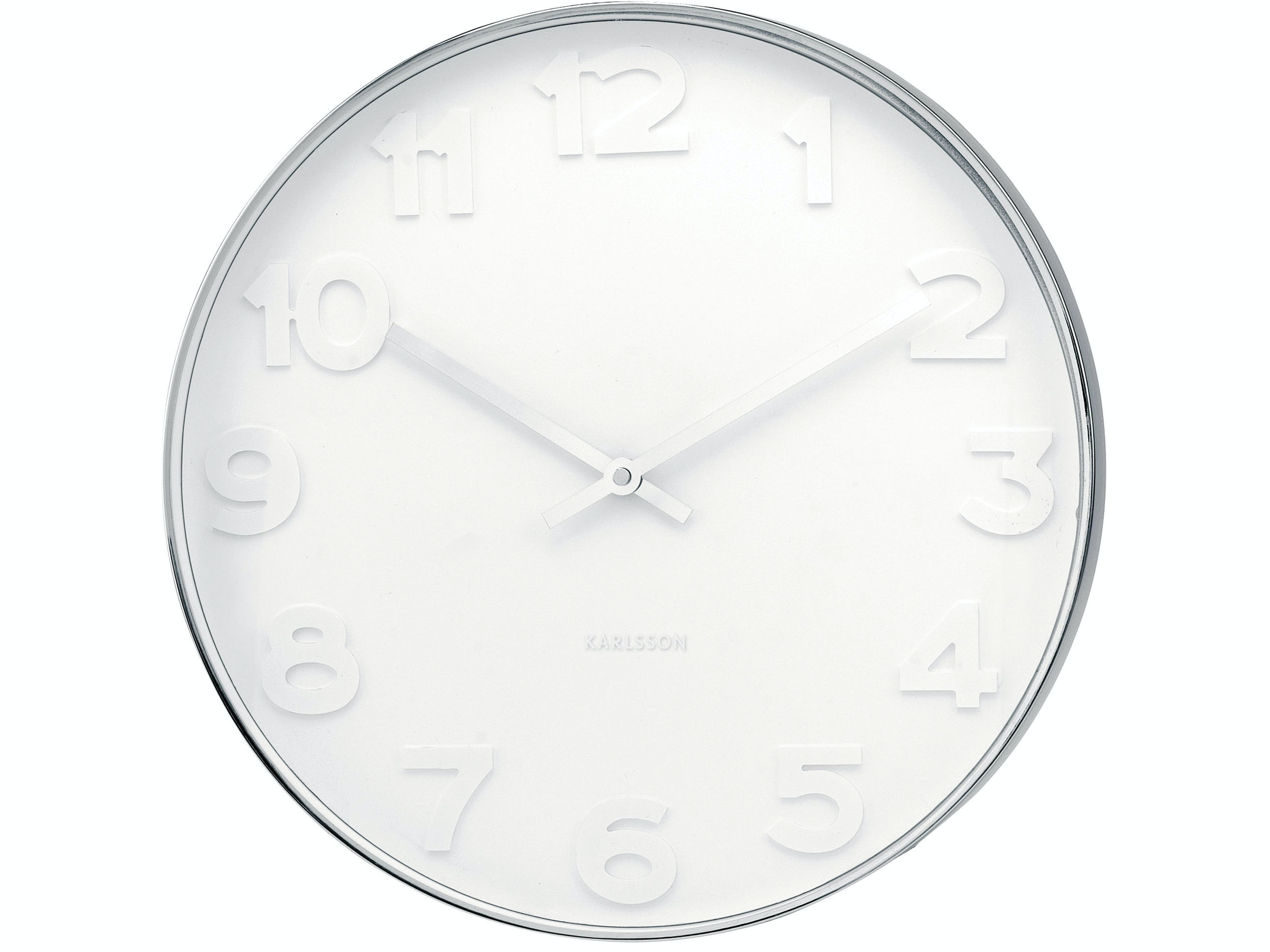 Karlsson Mr White Steel Wall Clock Large