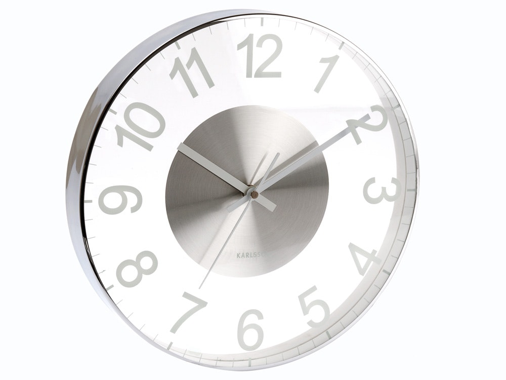 Karlsson Glass Slim Cased Wall Clock
