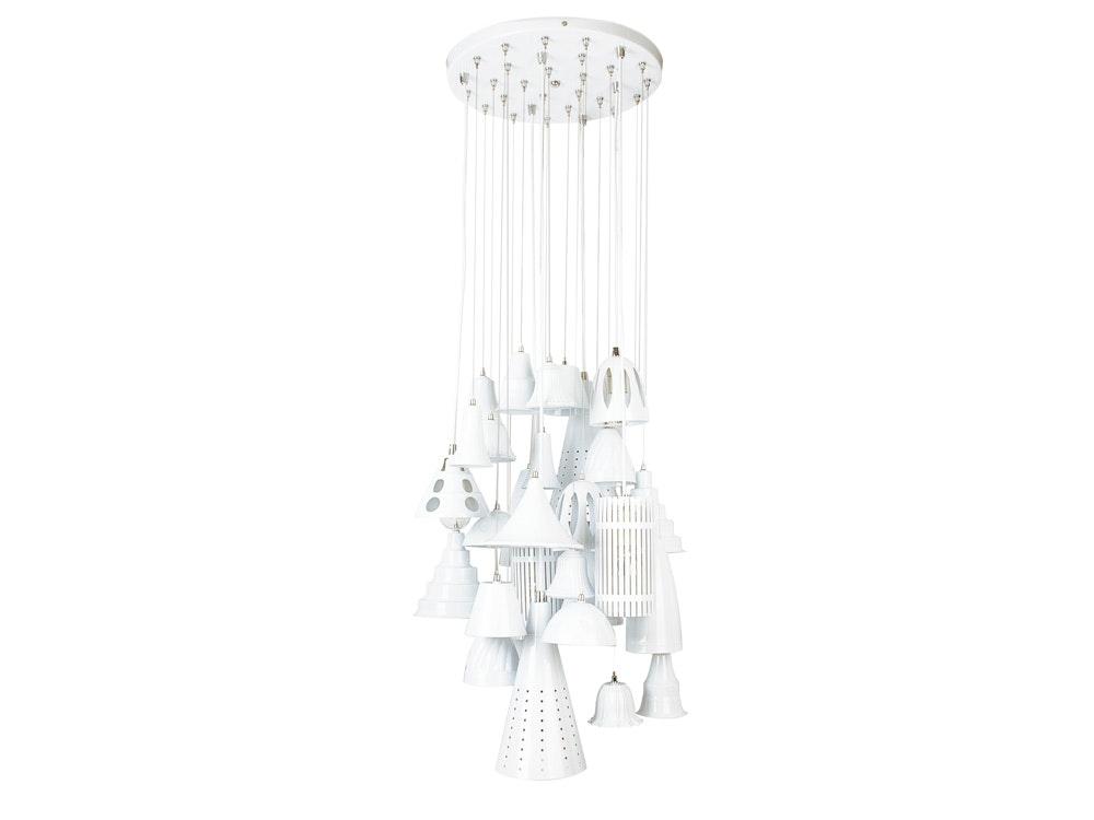 Lietmotiv Melange Small White Ceiling Chandelier