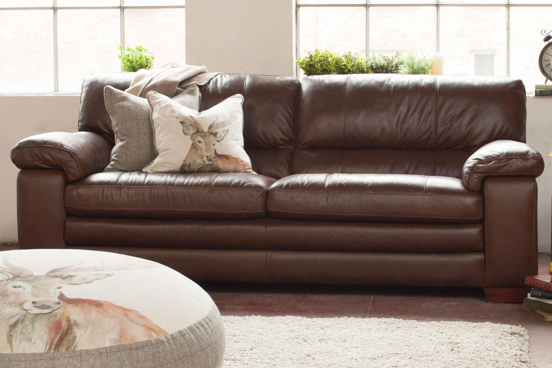 Lumina 3 Seater Leather Sofa