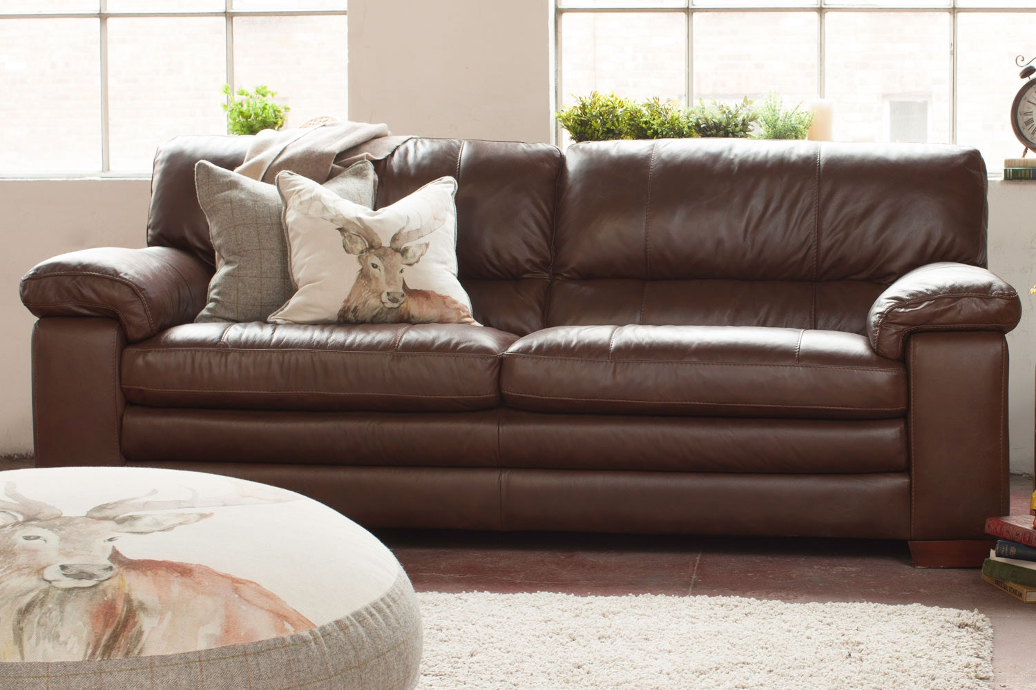 Lumina 3 Seater Leather Sofa