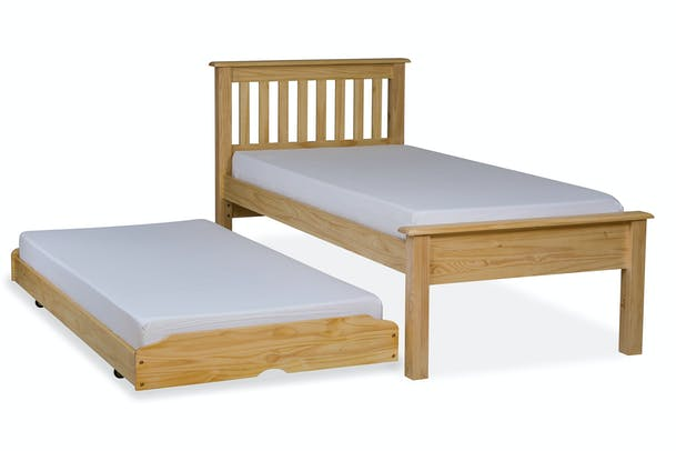 Shaker Trundle Bed | Natural | 3ft