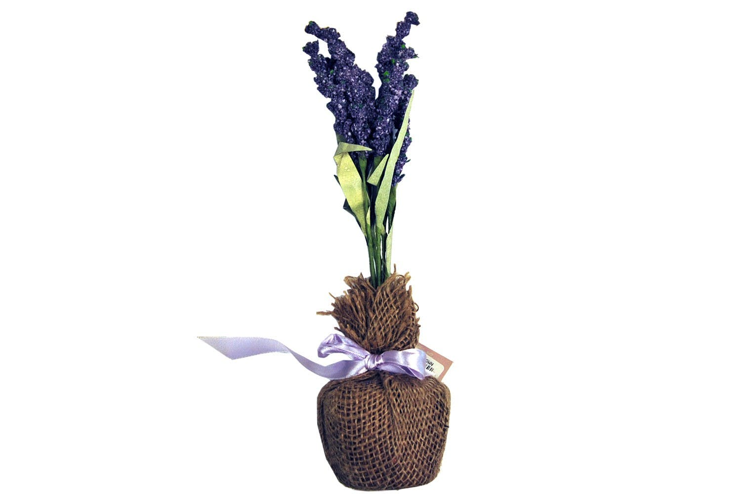 Lavender Flowers In Fabric Pot
