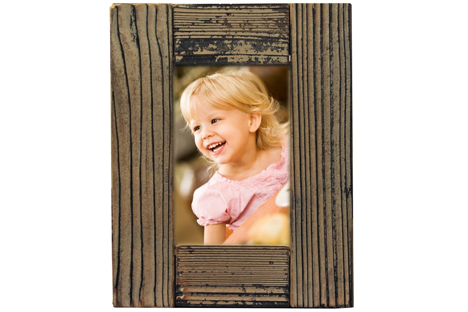 Distressed Wood Picture Frame 6X4 | 84-1341