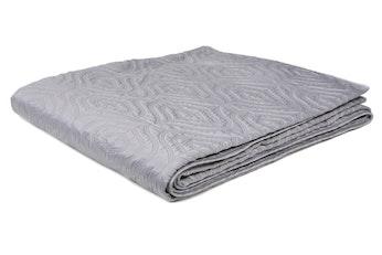 Faux Silk Lovedale Silver Bedspread