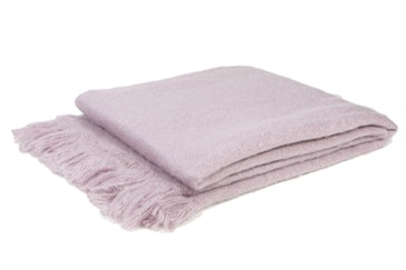 Faux Mohair Vogue Throw Blush