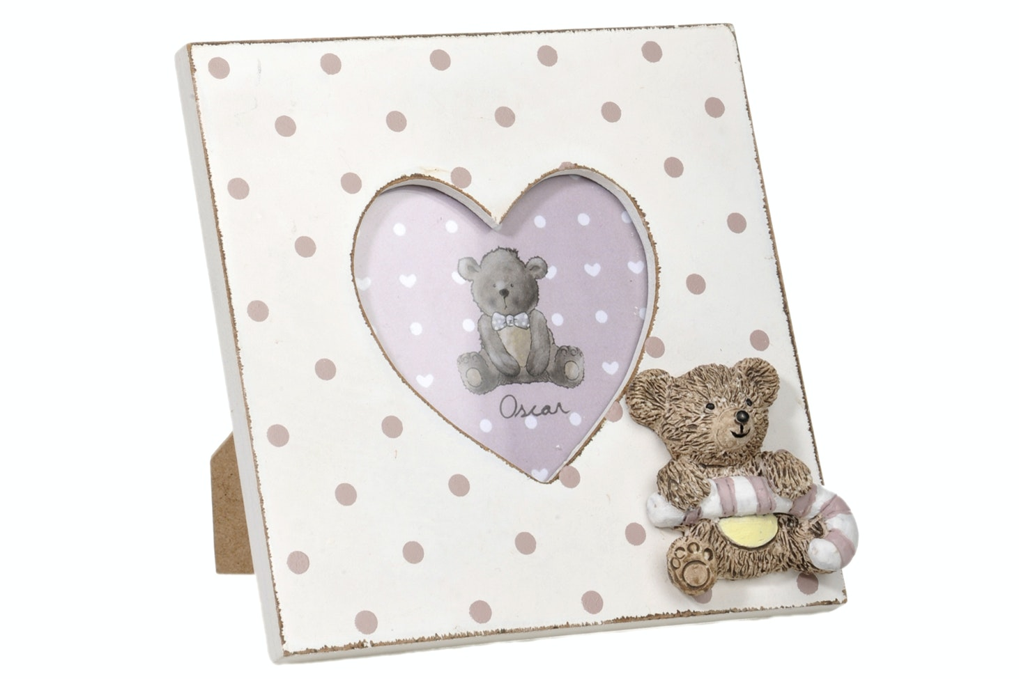 Polka Dot Heart Photoframe