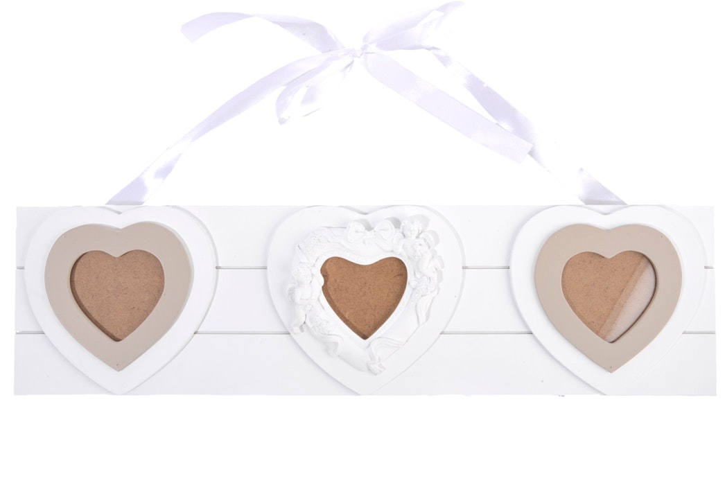 Multi Heart Cherub Hanging Frame