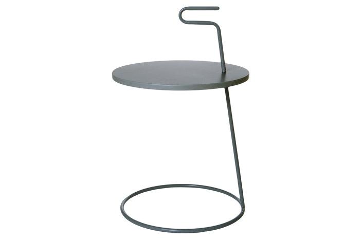 Dark Grey Table | Metal Base