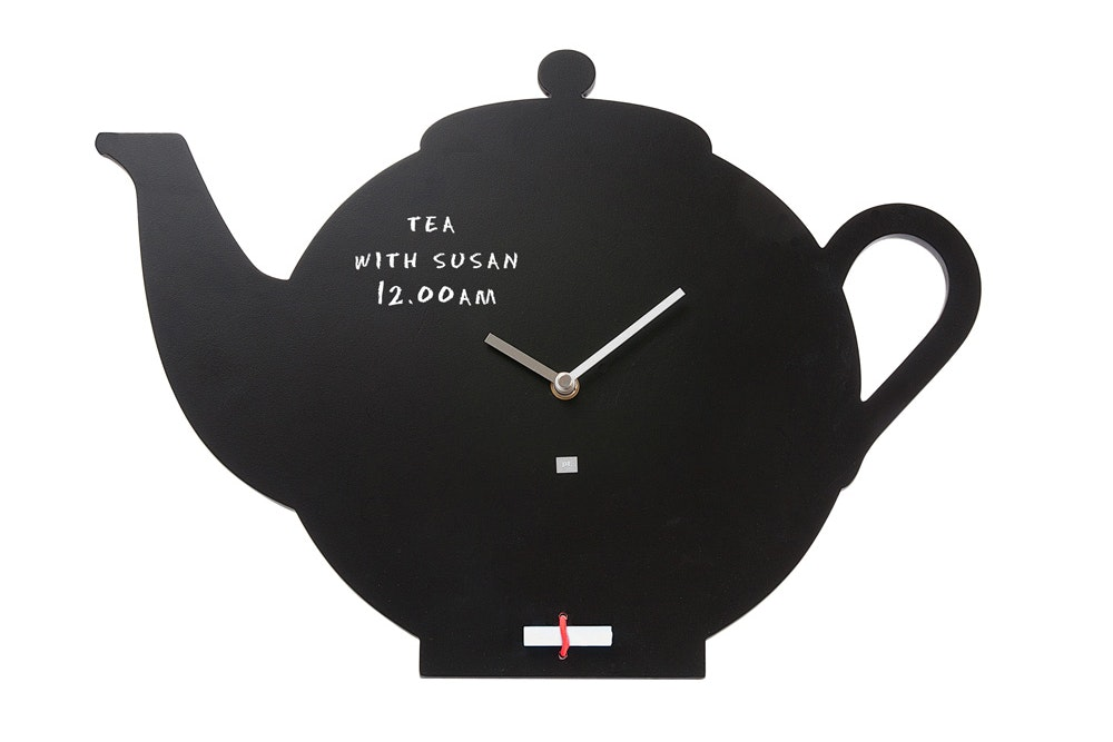 Wall Clock | Black Board Tea Pot