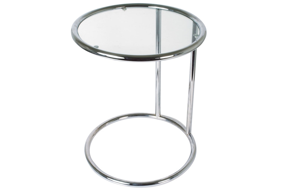 Glass Sidetable | Chrome