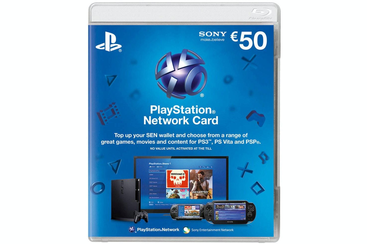 Playstation Network Voucher | €50