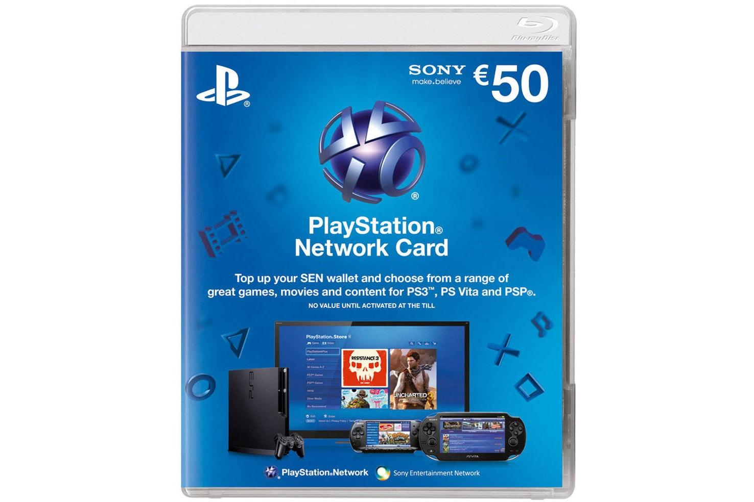 Playstation Network Voucher   €50