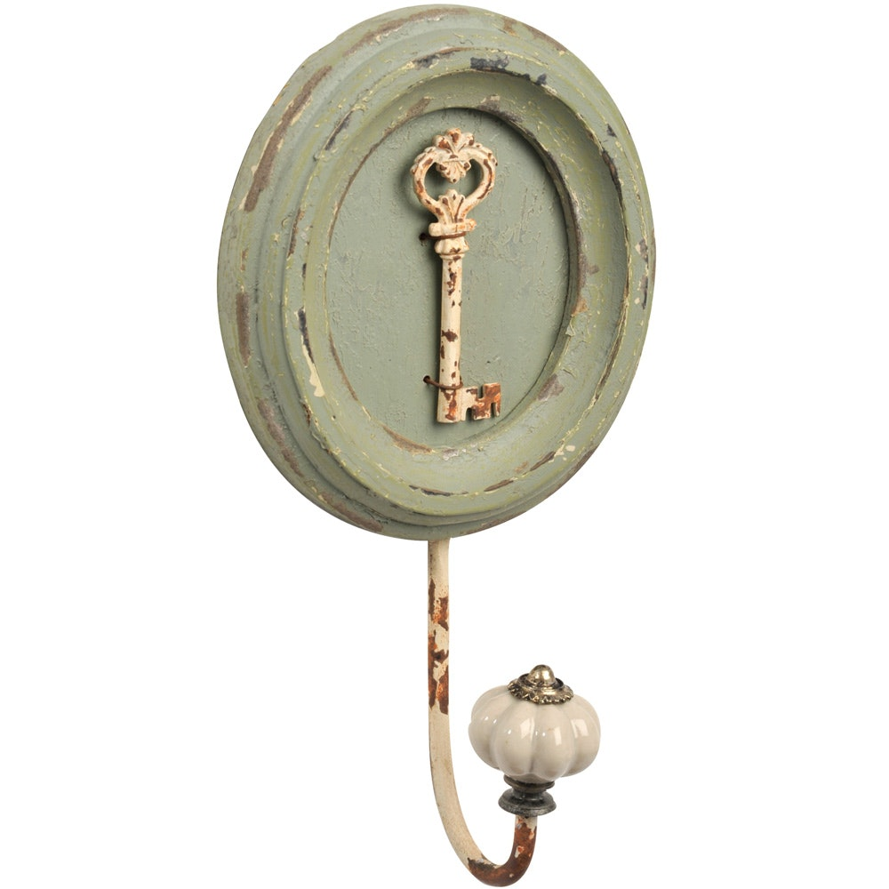 Green Key Coat Hook
