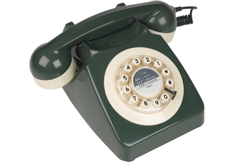 746 Green and Cream Retro Telephone