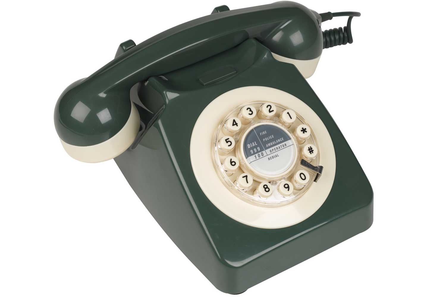 746 Green and Cream Retro Telephone