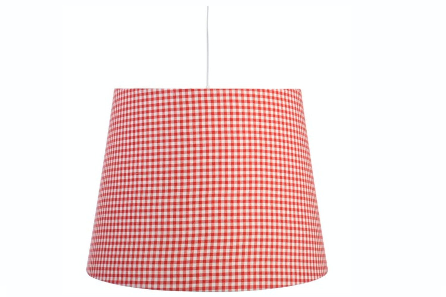 Red Vichy Ceiling Lamp Shade