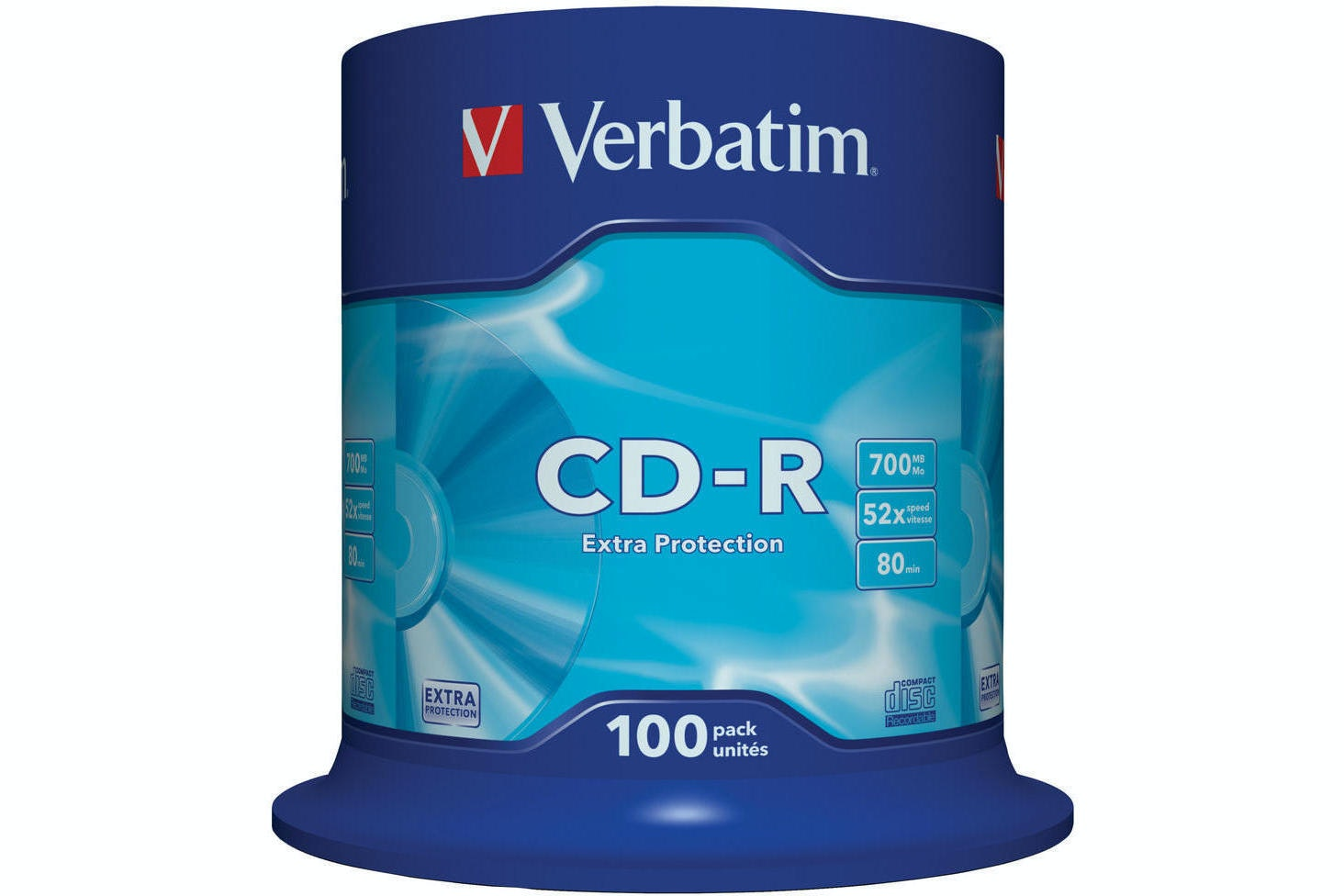 Verbatim CD-R Extra Protection 100 Pack | 43411