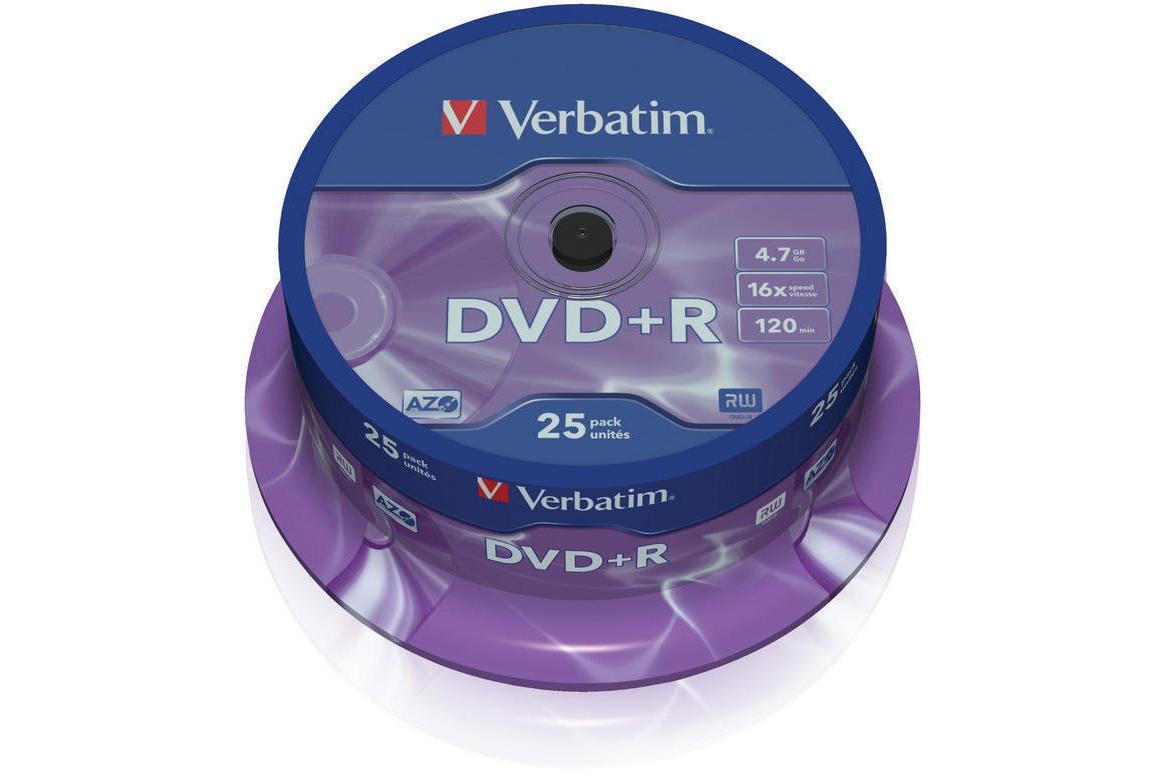Verbatim DVD+R 25 Pack   43500
