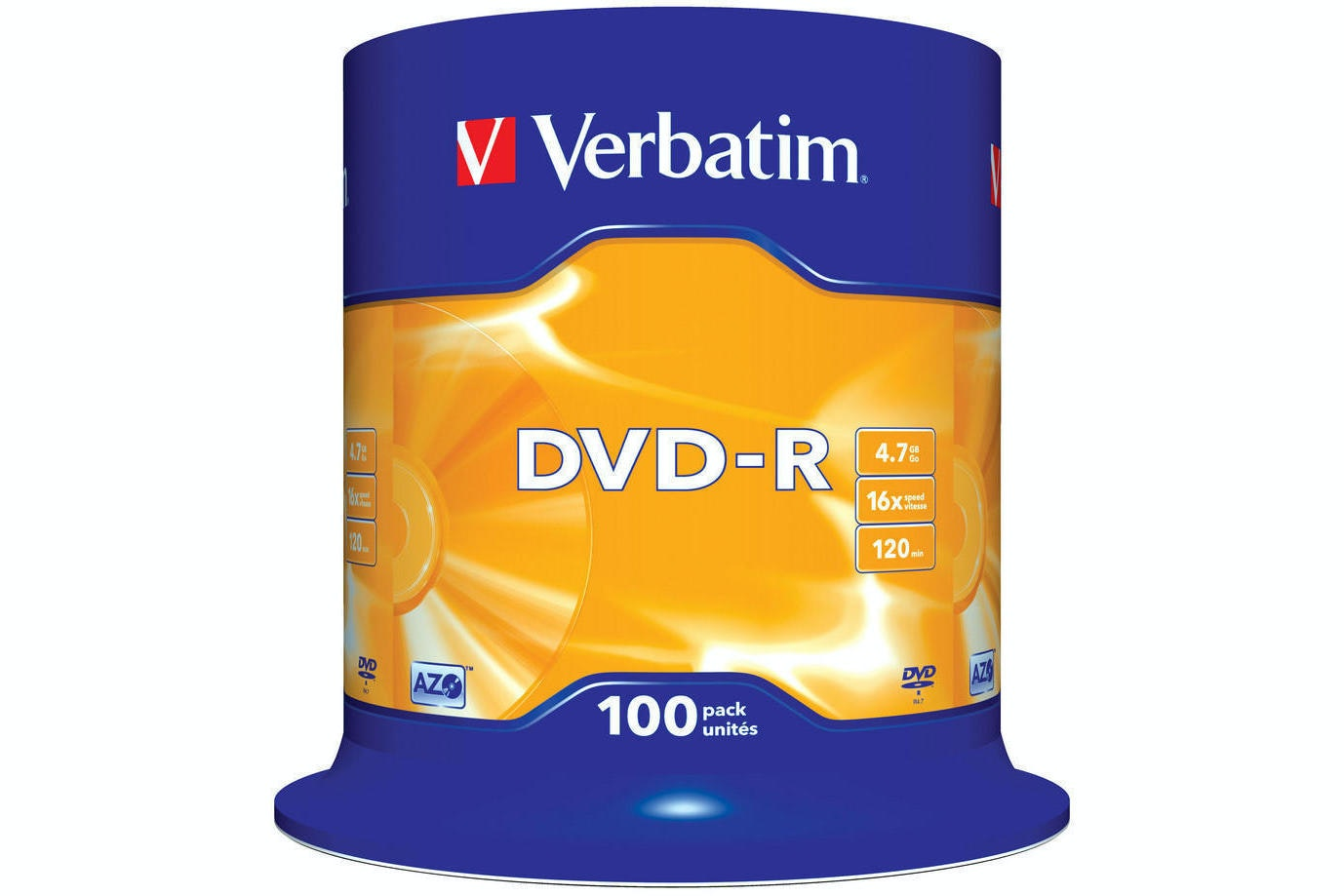 Verbatim DVD-R 100 Pack | 43549