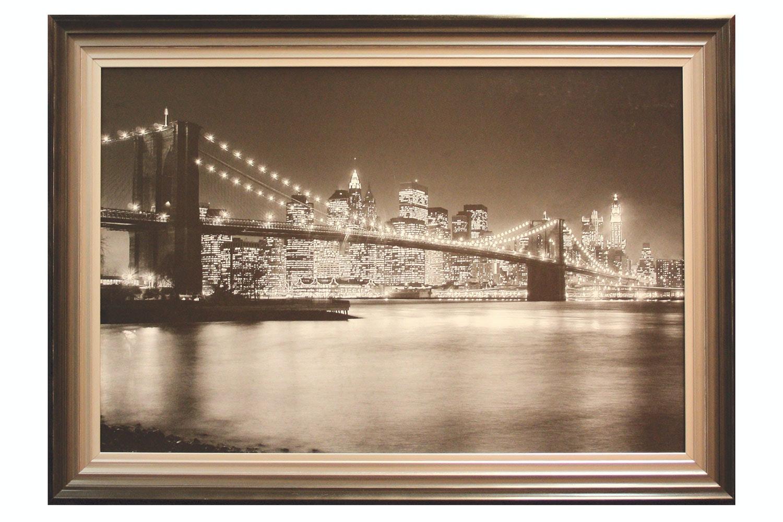 Brooklyn Bridge 24 x 36cm Framed Picture