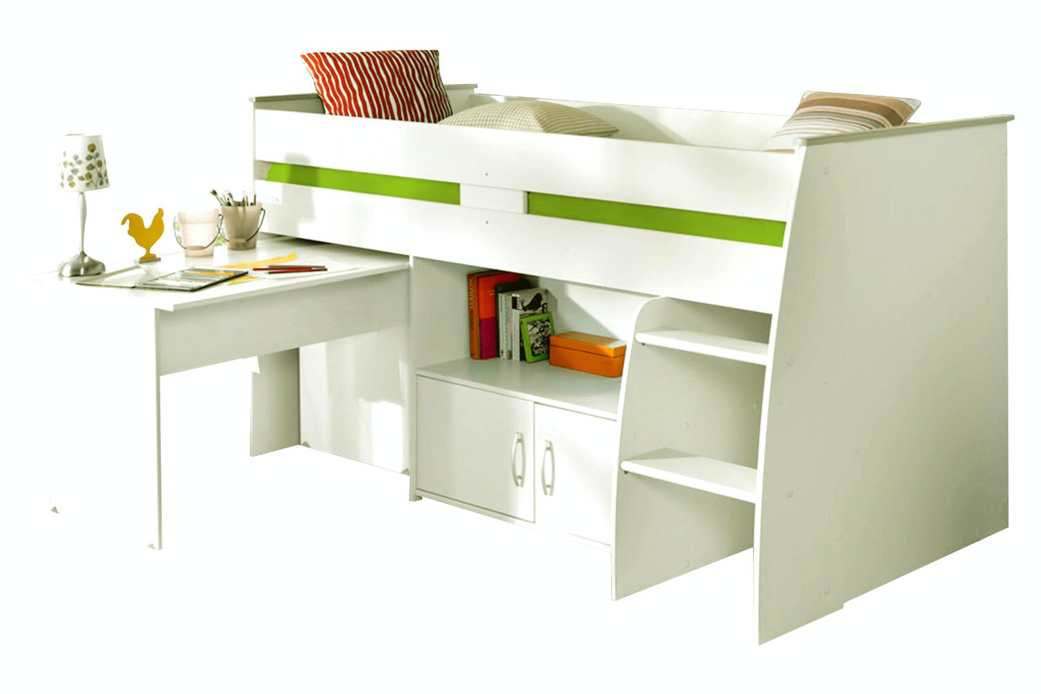 Charlie Midsleeper Bed | White