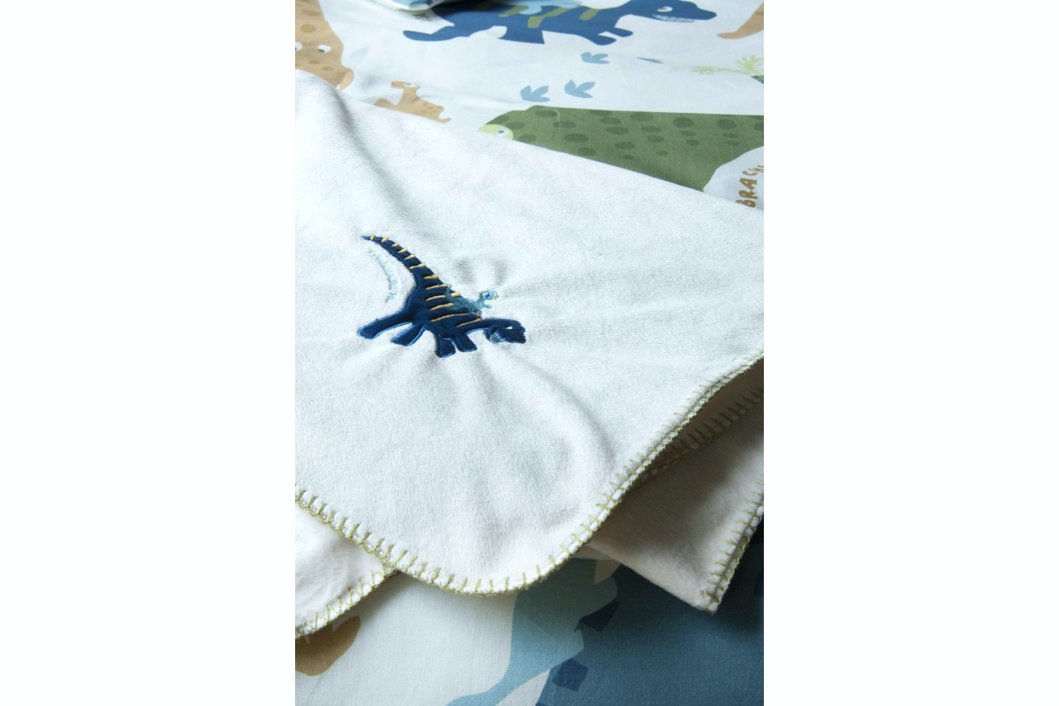 Dino Fleece Throw