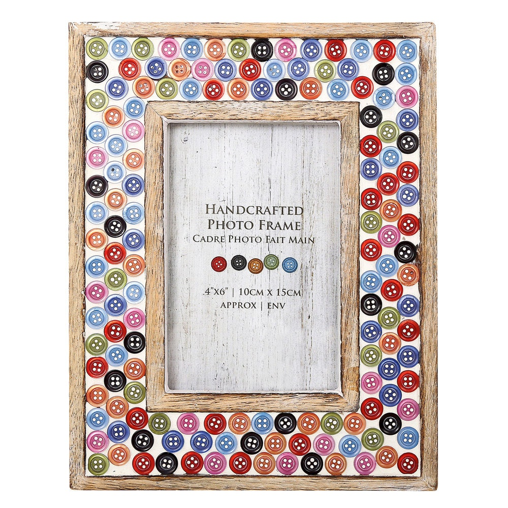 Mosaic Button Photo Frame