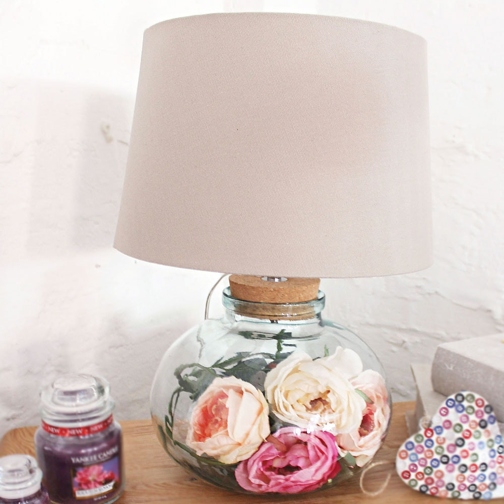 Clear Recycled Glass Table Lamp