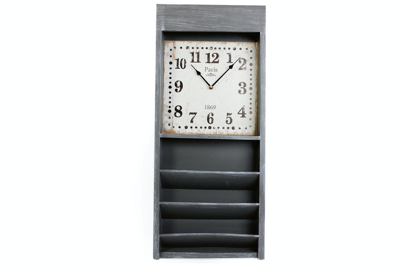 Wooden Storage Clock