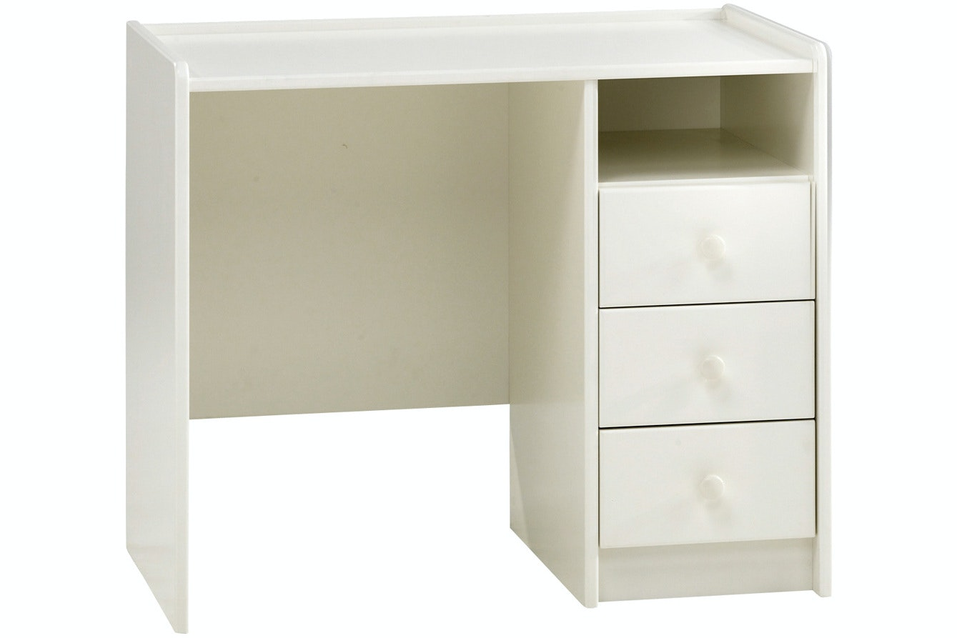 Popsicle 3 Drawer Desk White